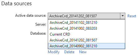 Data sources section shows newly created archive