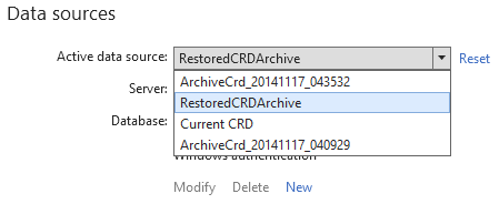 Restored archive using ApexSQL Restore option available in Web console