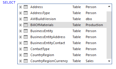 SQL object name becomes automatically schema qualified