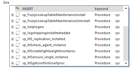 Type INSERT statement in the query window