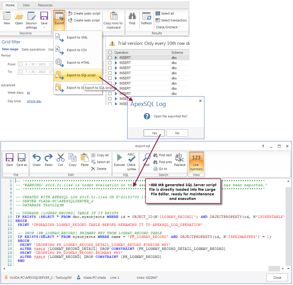 Steamroller team update: ApexSQL Log and ApexSQL Manage