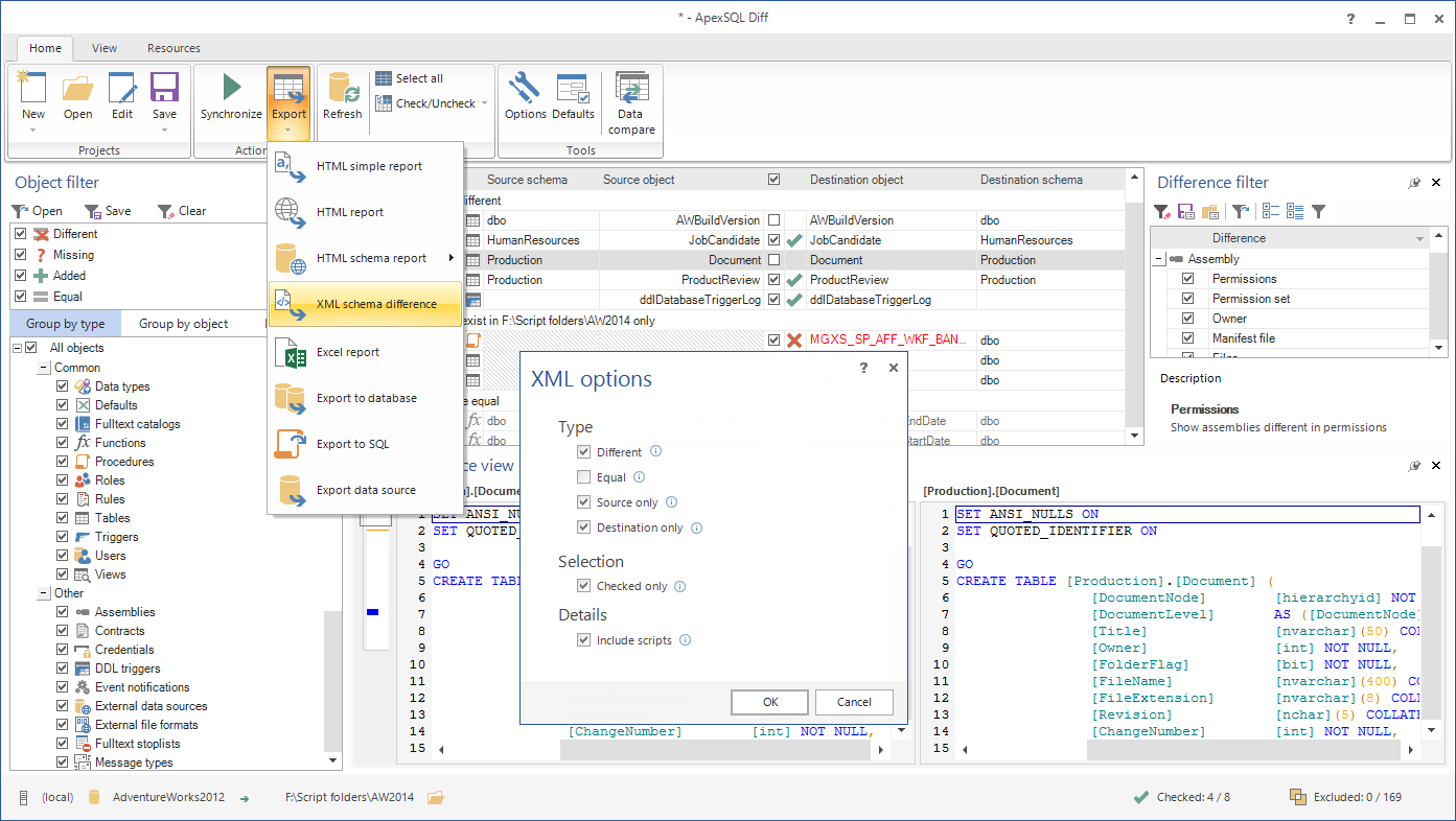 MS SQL Server Export Table To XML File Software download for