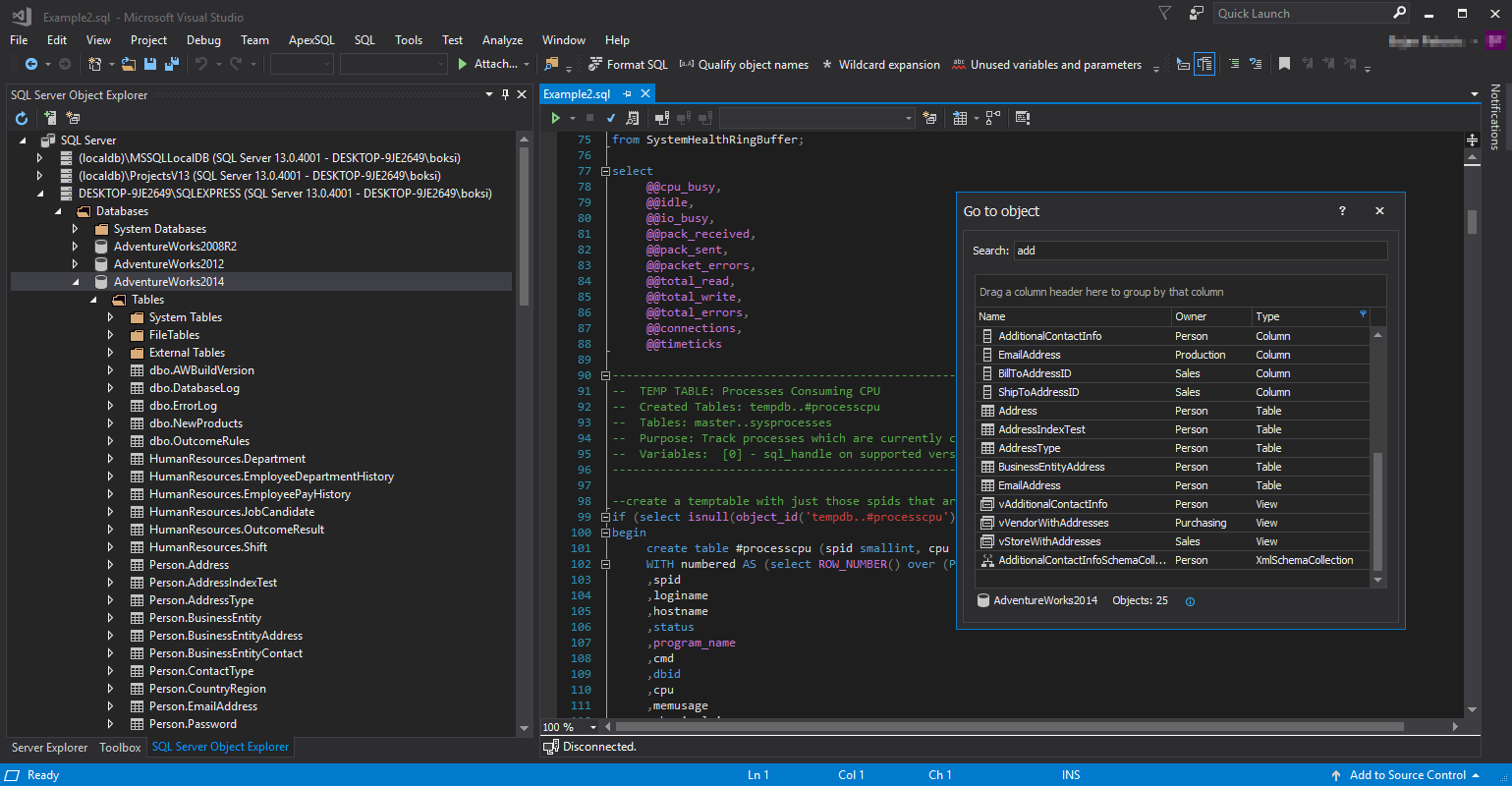 Visual Language Dictionary for Visual Studio for iconography, colors