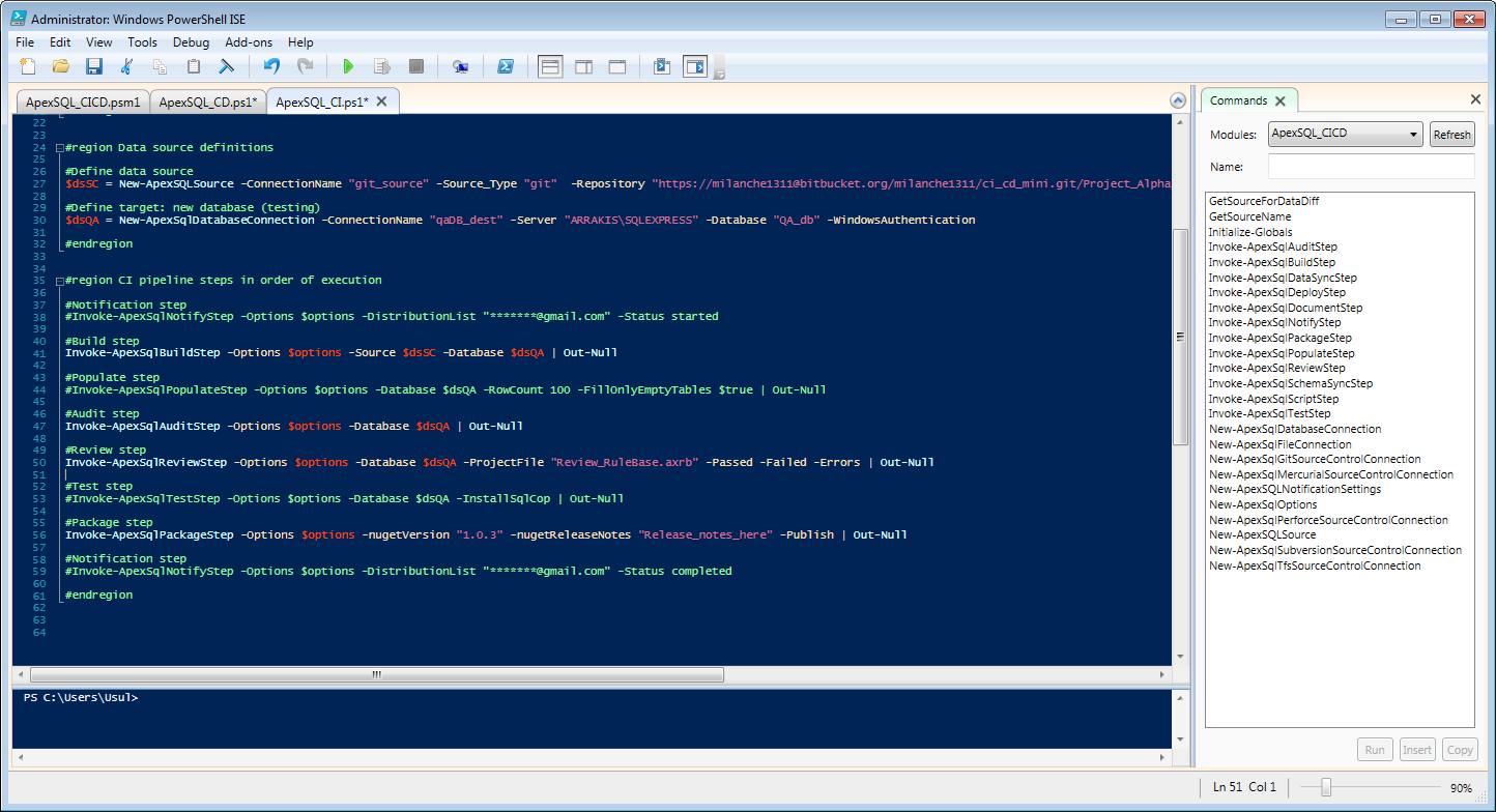 Advantages of ApexSQL DevOps toolkit PowerShell scripts