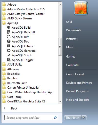 ApexSQL tool icons - Screen shot tour