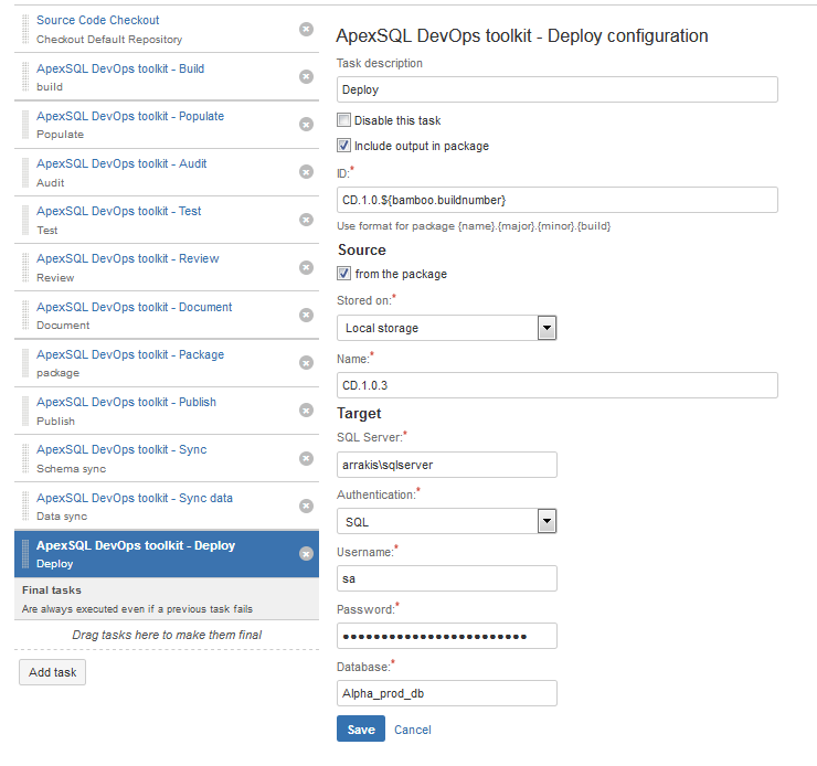 What's new in the ApexSQL DevOps toolkit – Bamboo build