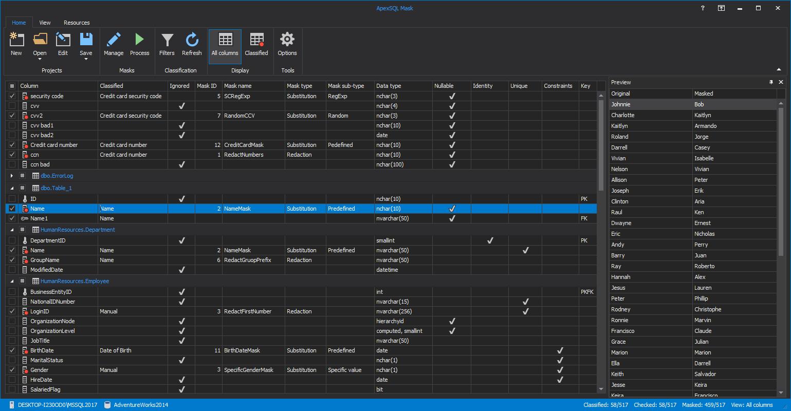 What's new in ApexSQL Developer: ApexSQL Mask - SQL Server