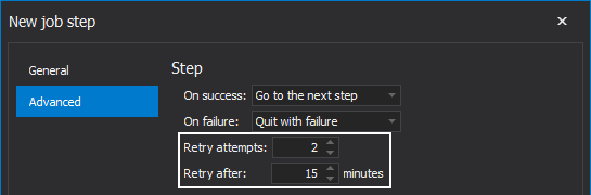 """Retry attempts"" and ""Retry after"" options"
