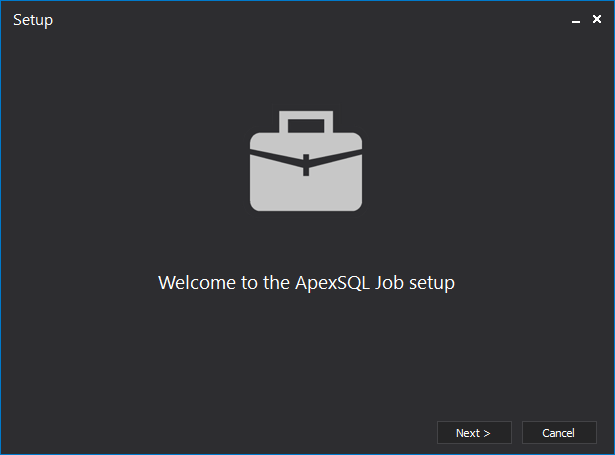 Welcome to the ApexSQL Job setup