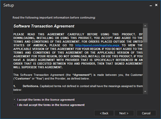 Software Transaction Agreement