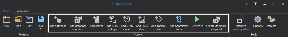 SSIS, SSRS, SSAS can be documented with the SQL Database documentation tool