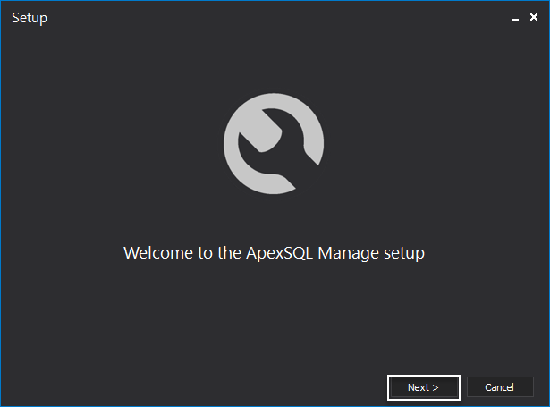 Welcome to the ApexSQL Manage setup